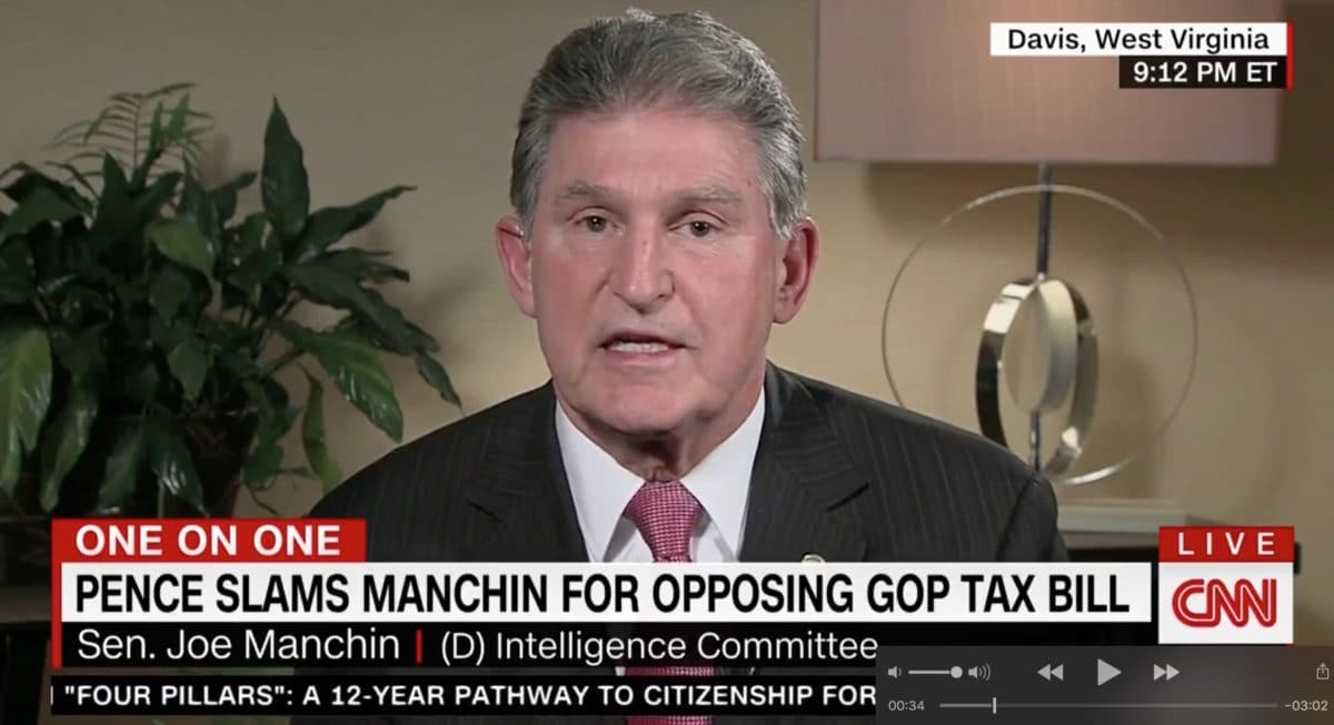 Joe Manchin with Chris Cuomo on CNN