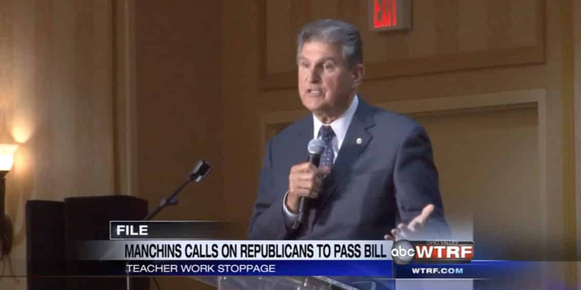 Joe Manchin on teachers' work stoppage