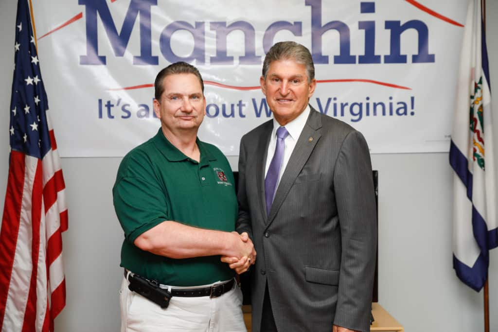 Joe Manchin and David Sayre
